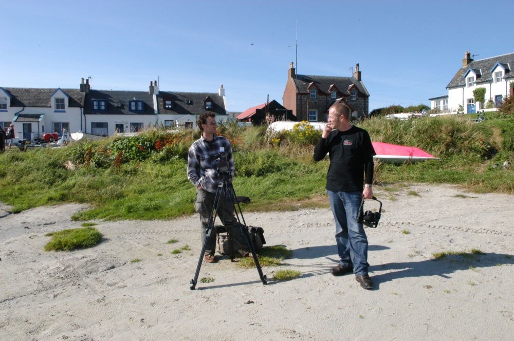 Shaun Pettigrew and Hobe on the Isle of  Iona.jpg