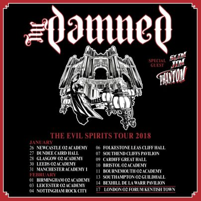 Damned Evil Spirits Tour graphic